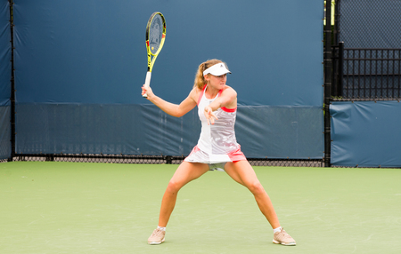 atp: Mason, Ohio - August 13, 2016: Aliaksandra Sasnovich at the Western and Southern Open in Mason, Ohio, on August 13, 2016. Editorial