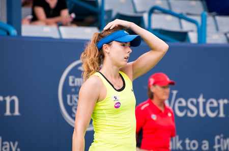 cornet: Mason, Ohio - August 16, 2016: Alize Cornet  in a match at the Western and Southern Open in Mason, Ohio, on August 16, 2016. Editorial