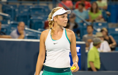 oh: Mason, Ohio - August 15, 2016: Donna Vekic in match against Ana Ivonavic at the Western and Southern Open in Mason, Ohio, on August 15, 2016.