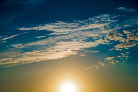 iridescent: Iridescent clouds at sunset.