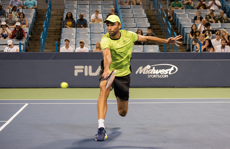 Mason, Ohio – August 17, 2017:  Ivo Karlovic in a round of 16 match at the Western and Southern Open tennis tournament in Mason, Ohio, on August 17, 2017. Sajtókép
