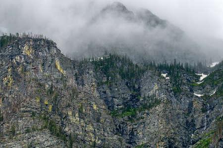 Mountain views of Glacier National Park in Montana. Stock Photo