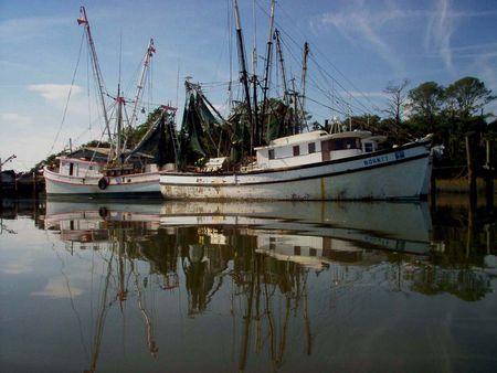 Beaufort Shrimp Boats photo