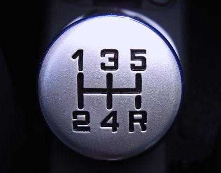 manuelles Schaltgetriebe Getriebe in einem Auto