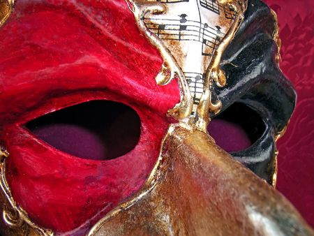 conceal: Mask used in the Venice Carnival (Italy)
