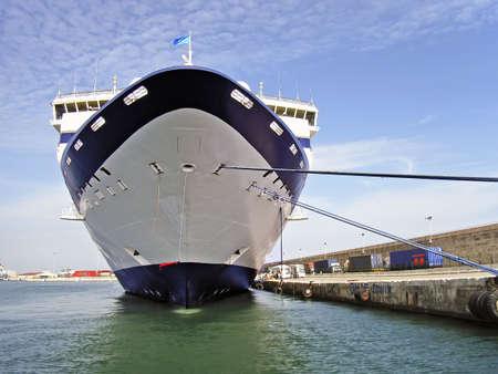 cruiseship: Gran crucero atracado en Palma de Mallorca Foto de archivo