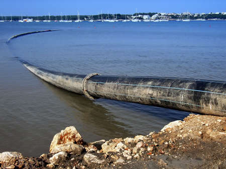 toxic water: Industrial water dumping into the Sea