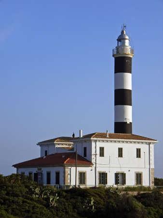 colom: Lighthouse in the coast of Porto Colom (Majorca - Balearic Islands - Spain)