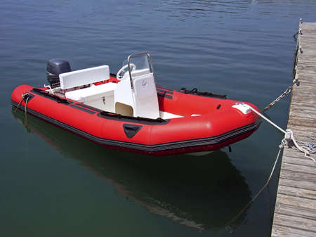 lifeboat: Inflatable boat