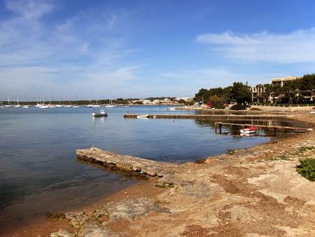 colom: Porto Colom Bay in Majorca (Balearic Islands - Spain)                                                                Stock Photo