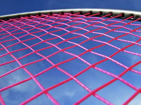 racquetball: Detalle de una raqueta red