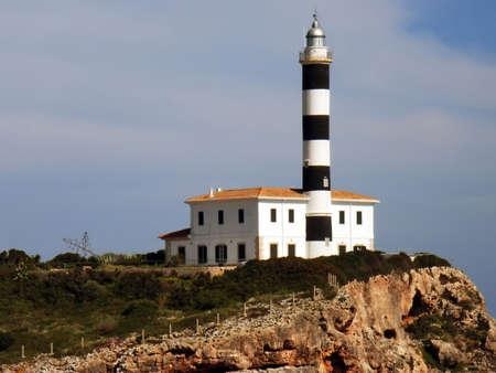colom: Porto Colom Lighthouse in Majorca (Balearic Islands - Spain)