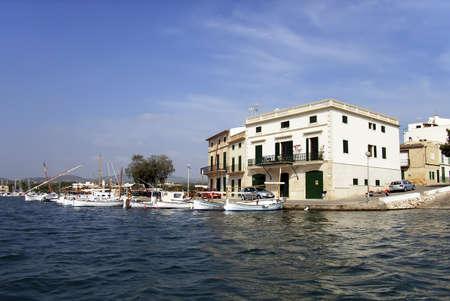 colom: Coastal village of Porto Colom (Mallorca - Spain)                                                                Stock Photo