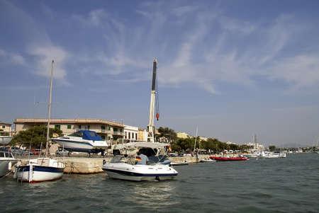 colom: Porto Colom pier in Mallorca (Balearic Islands - Spain)