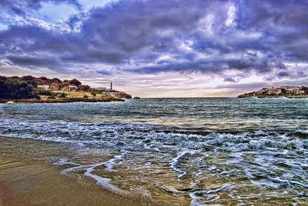 climatology: Storm aproaching Majorcas coast in winter