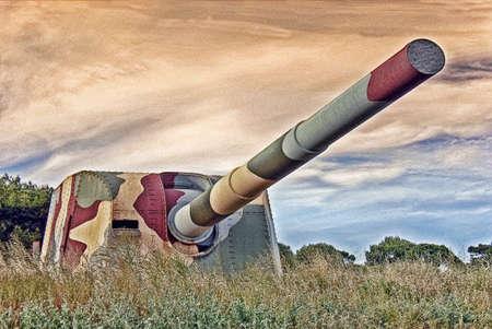 siege: Battery of coastal artillery in Spain