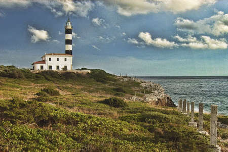 colom: Porto Colom Lighthouse in Mallorca (Balearic Islands)