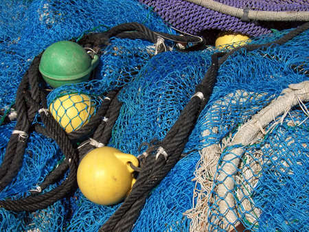 gridwork: Details of some nets using for fishermen                                                                Stock Photo