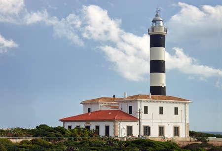 colom: Sa Punta Lighthouse in Porto Colom (Majorca - Spain)                                                                Stock Photo