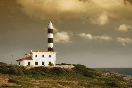 colom: Porto Colom Lighthouse in Majorca (Balearic Islands)