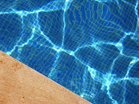 distortion: Detail of a swimming pool in Spain