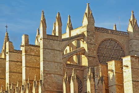 architectonic: Architectonische details van de gotische kathedraal van Mallorca