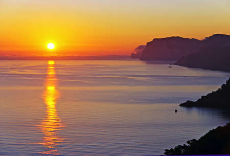Beautiful sunrise in the island of Majorca (Balearic Islands - Spain) photo