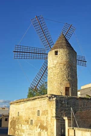 Mediterranean Windmill in Manacor (Majorca - Spain) photo