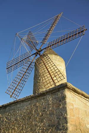 Typical spanish windmill in Manacor (Majorca - Spain) photo
