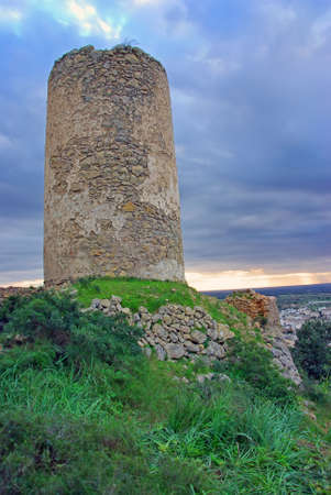 Abandoned Windmill in Felanitx (Majorca - Spain) photo