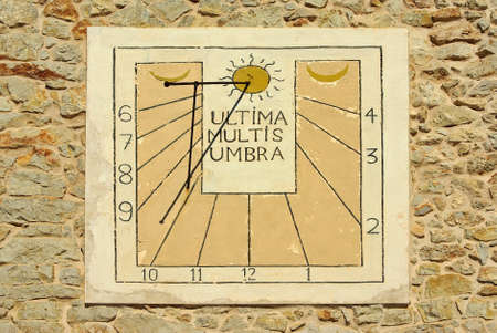Typical Mediterranean Solar Clock in a country house of Majorca (Spain - Balearic Islands) photo