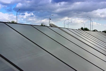 solar thermal: Solar Water Heating System installed in a technologic park in Majorca (Spain)
