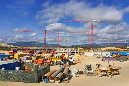 Construction site to build a new hospital in Majorca (Son Espases) photo