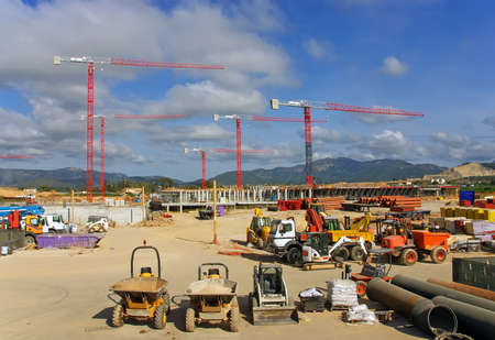 Construction site to build a new hospital in Majorca (Son Espases) Stock Photo - 11860416