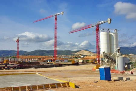 Construction site to build a new hospital in Majorca (Son Espases) Stock Photo - 11860522