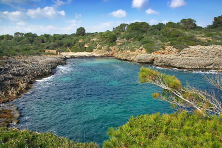 Cala Brafi beach in the south of the island of Majorca (Spain) photo