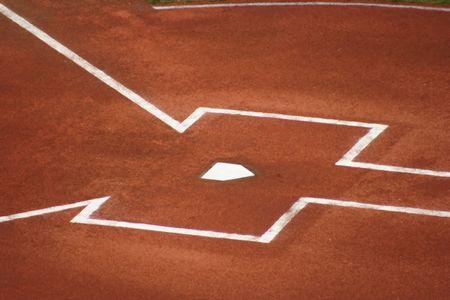 ballpark: Home Plate antes de que el juego  Foto de archivo
