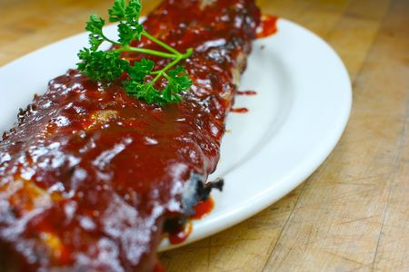 Full Slab of BBQ Ribs Stock Photo - 850456