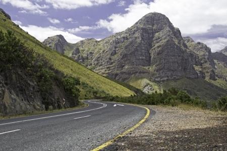 threw: Road passing threw a mountain
