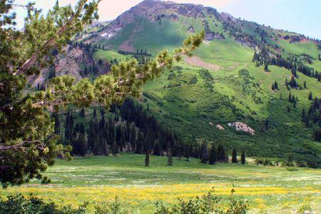 basin mountain: Mountain serenity