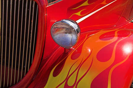 Colorful Flames on 1934 Ford Hotrod photo