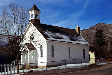 Old American Country Church Stock Photo - 619333