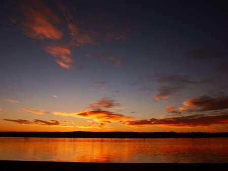 chatfield: Sunrise at Chatfield Lake in Colorado Stock Photo