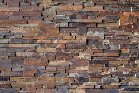 Flagstone bricks create an abstract pattern  Stock Photo