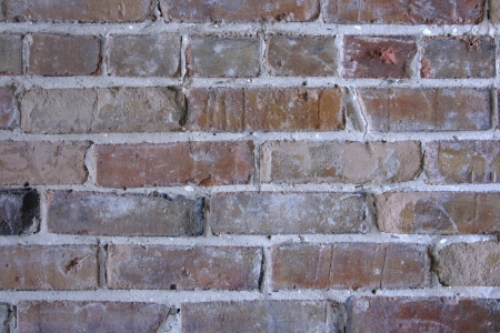 Bricks and mortar form an abstract building pattern  Stock Photo