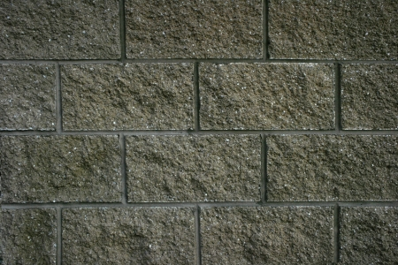 A wall of blocks creates an abstract pattern of rectangles