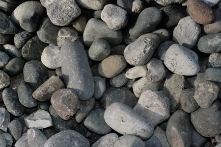 A bed of stones create an background pattern