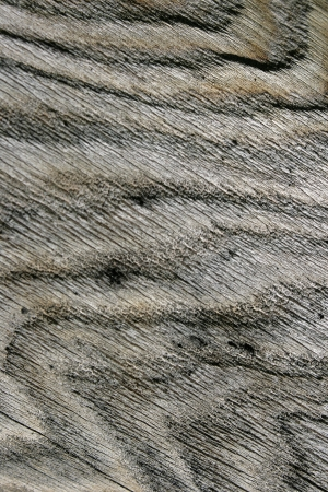 Rough wood creates an abstract, wavy pattern  Stock Photo