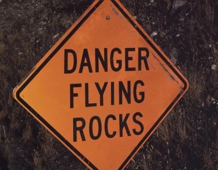 Een behulpzame verkeersbord waarschuwt de automobilist over andere dan vogels dingen