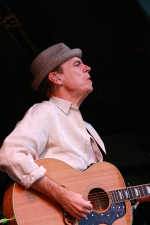 John Hiatt performs his rock and roll magic for an appreciative music festival audience. Editorial